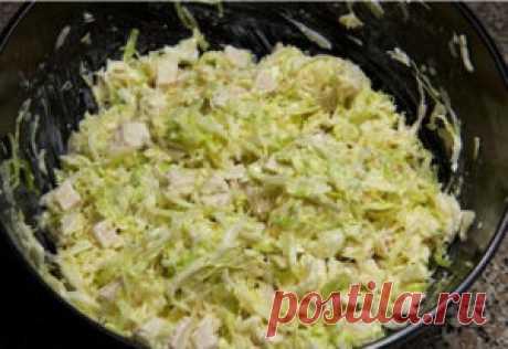 Готовим вкусно - Салат из свежей капусты с курицей
