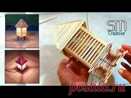 DIY Cara Buat Lampu Tidur sederhana || Stik Es krim