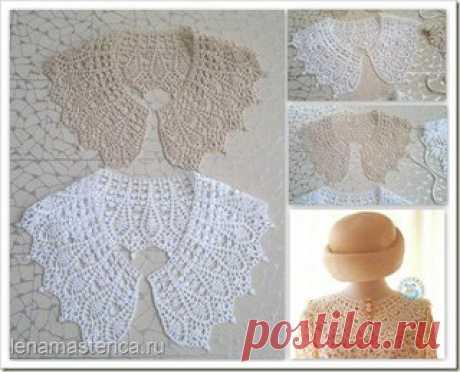 Knitted hook collar, scheme