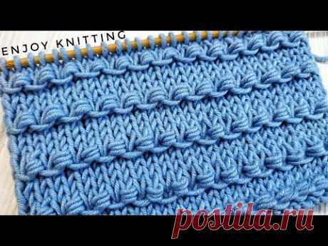 Простые УЗЕЛКИ Узор Спицами | Узор #55|  Knots knitting stitch pattern