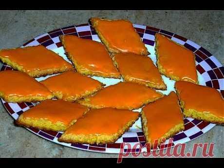 Апельсиновые Печенья с Творогом + Рецепт Глазури - YouTube