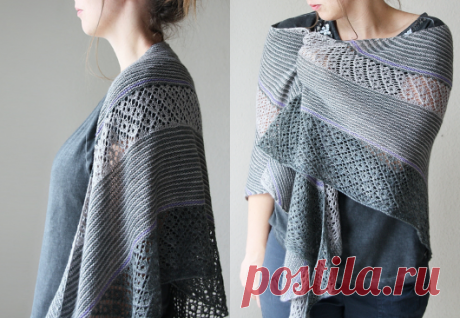 Beautiful shawl knitted | STAY-AT-HOME