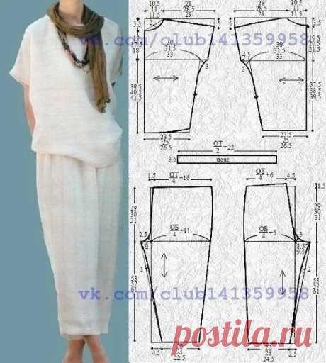 Летняя блузка со спущенным рукавом в стиле бохо. | О рукоделии, и не только. 🧵✂️👜 | Яндекс Дзен