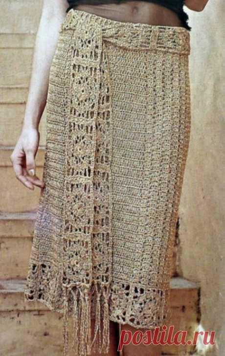 Интересная самобытная вязаная юбка из категории Интересные идеи – Вязаные идеи, идеи для вязания