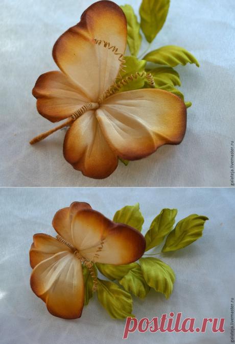 Создаем бабочку из шелка - Ярмарка Мастеров - ручная работа, handmade