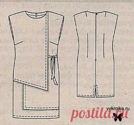 Выкройка платья-фартука - скачать выкройку платья бесплатно с выкройка.ру Страница 0