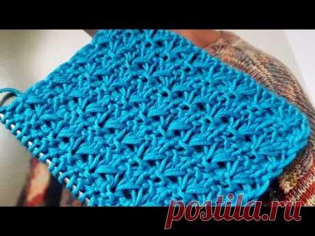 Вяжем рельефный, фоновый узор спицами 🍂 knitting pattern.