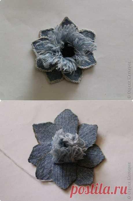 Цветок из джинса