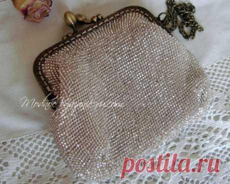Сумочка связанная крючком с бисером - Crochet.Modnoe Vyazanie ru.rom