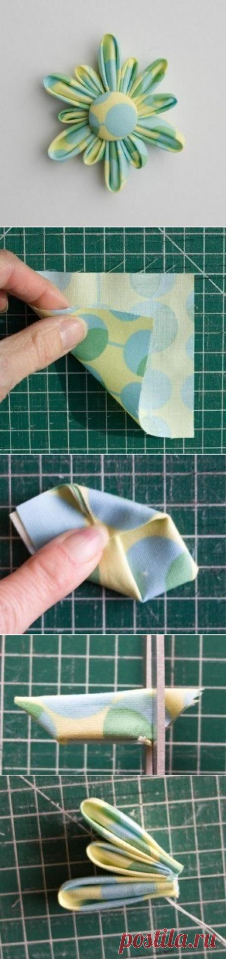 МК Цветы из ткани