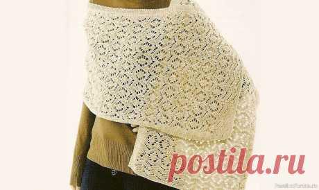 Отличный узор для палантина | Вязание спицами