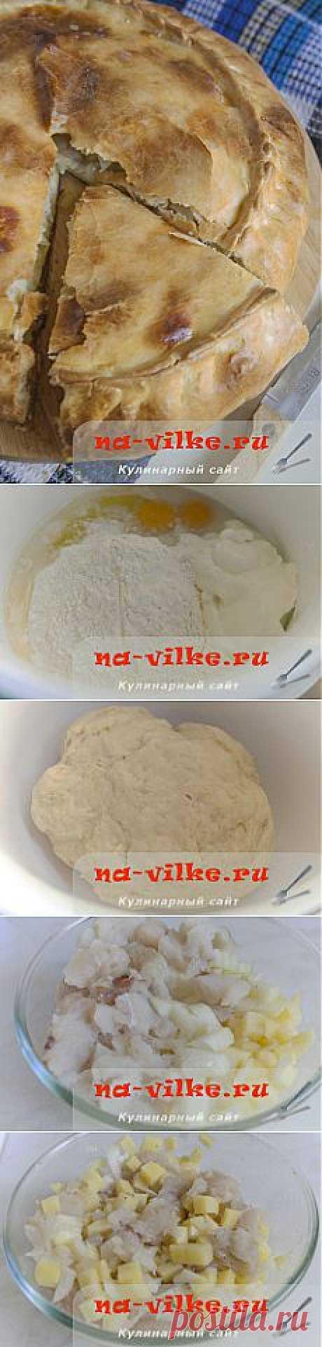 Пирог с рыбой и картошкой на пресном тесте – рецепт с фото