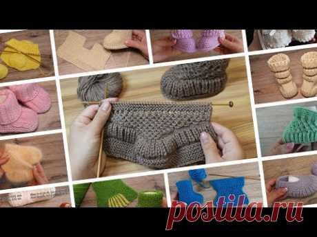 Baby booties 👶 - Как вязать пинетки – наша подборка моделей со схемами, описанием и видео уроками 👼 - YouTube  Booties,knitting,booties knitting,booties knitting pattern,knitting pattern,baby booties,пинетки,пинетки спицами,как вязать пинетки,пинетки на двух спицах,безшовные пинетки,безшавніе пинетки спицами,пинетки – сапожки,пинетки – сапожки спицами