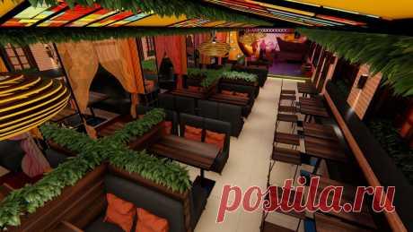 Ресторан/гриль-бара в стиле сочного лофта ~200 кв.м.