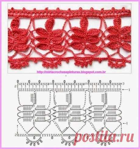 10 вариантов вязания каймы крючком
