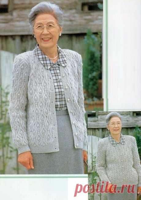 Свяжу для мамы! 7 жакетов для женщин элегантного возраста (Часть II) | Южная сова | Яндекс Дзен