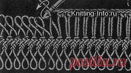 Осваиваем вязание на вилке.