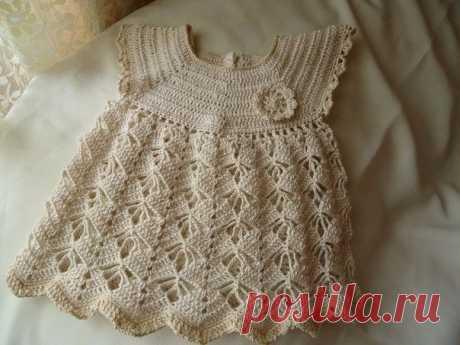 Ажурное платье для маленьких модниц  .....