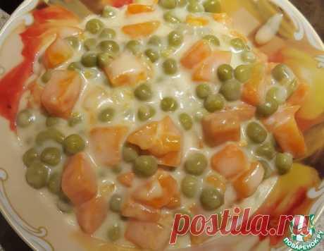 Морковь с горохом в белом соусе – кулинарный рецепт