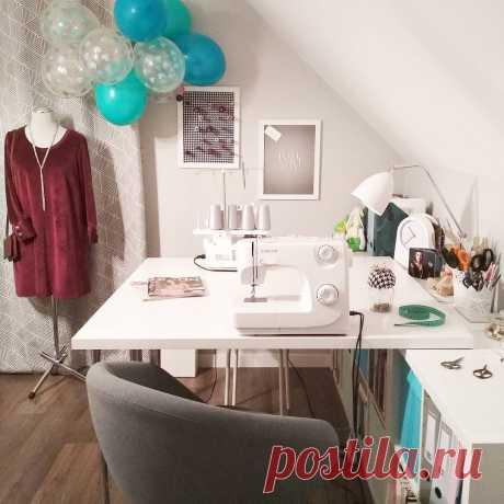 Рабочее место швеи: идеи для организации — BurdaStyle.ru