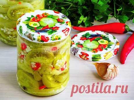 Салат «Кобра» из зелёных помидор на зиму | Webpudding.ru
