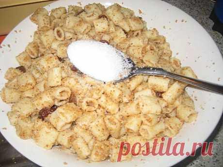 Сладкие макароны с орехами: простой постный десерт по рецепту моей бабушки!