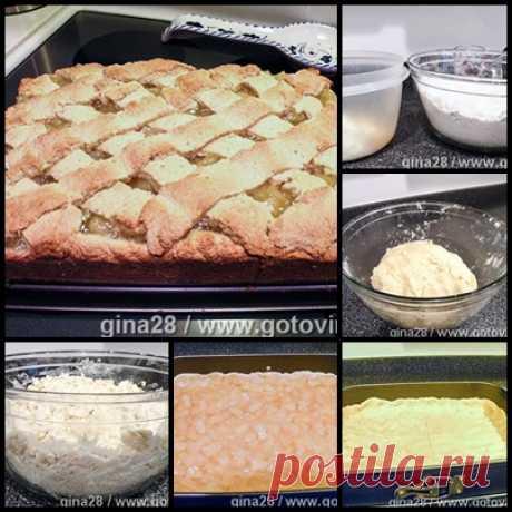 Пирог с ананасовой начинкой