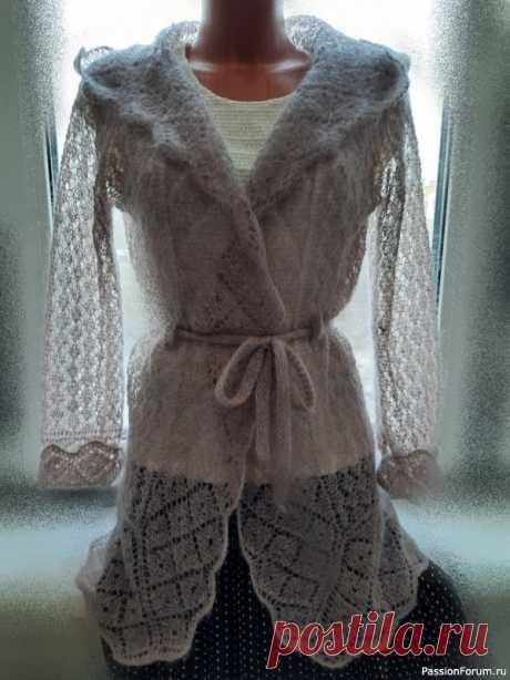 """Очаровательная невесомость- кардиган """"Паутинка""""   Вязание для женщин спицами. Схемы вязания спицами"""