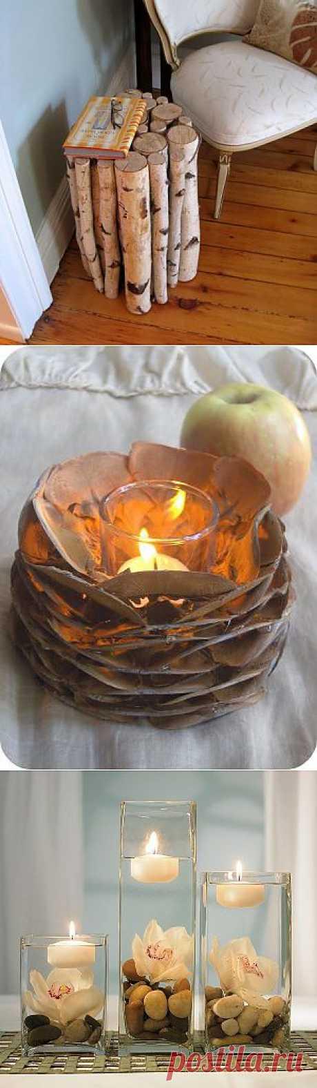 Супер-идеи по декору интерьера из природного материала