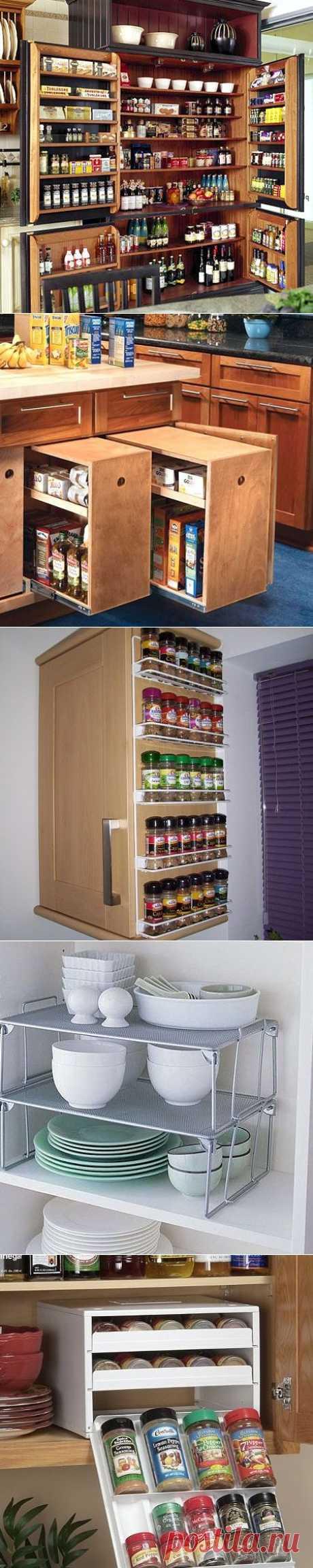 Порядок в ящиках и на полках кухни