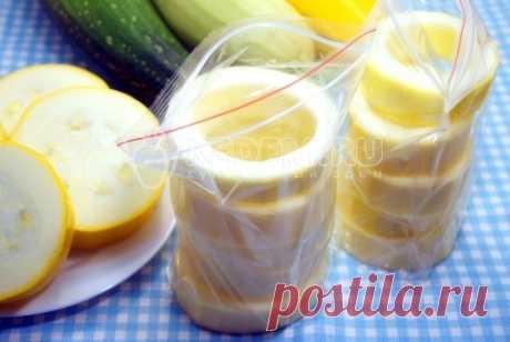 Заморозка кабачков на зиму «Колечки» – Пошаговый рецепт с фото. Заготовки. Вкусные рецепты с фото