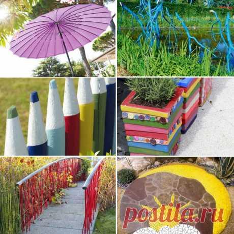 Яркие акценты для сада: 11 приемов + 45 отличных идей от французских декораторов Если у вас есть дача или сад, а душа требует яркости, включайте фантазию и воплощайте самые красочные идеи в союзе с природой. Ее зеленые и коричневые оттенки станут отличным фоном для палитры смелого художника, роль которого вы можете примерить на себя. Если при этом вы желаете остаться в границах хорошего вкуса и не переусердствовать с красками, воспользуйтесь авторитетным мнением французски...