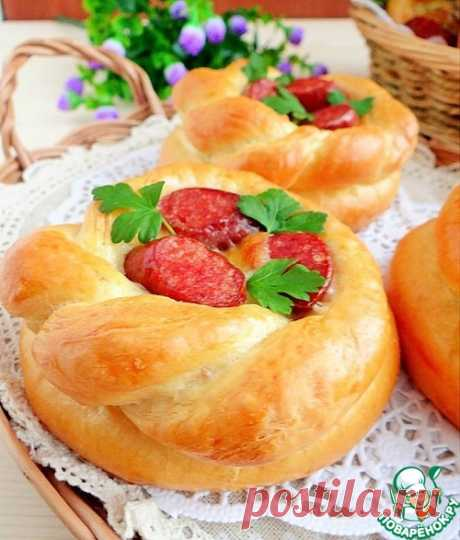 Корзиночки с рисом, колбасками и моцареллой – кулинарный рецепт