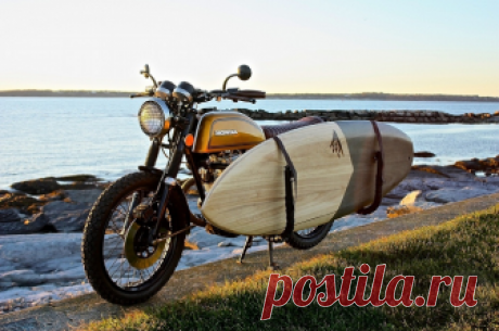 Уникальный брэт-трекер «Surf-n-Turf» на базе Honda CB200T (1975) построен в Utopeia Moto Company | Александрит