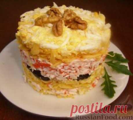 La receta: la Ensalada «las perlas Negras» en RussianFood.com