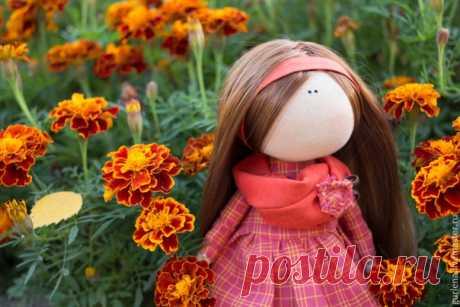 Текстильная куколка Ясенька с выкройкой #куклы #игрушки #hand_made #рукоделие #творчество #шьем #handmade #masaa #тильда #выкройки