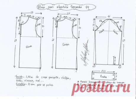 Выкройка превосходной блузы. Размеры 36-56 (Шитье и крой) – Журнал Вдохновение Рукодельницы