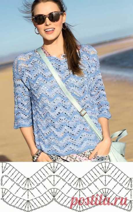 10 моделей летних блузок крючком