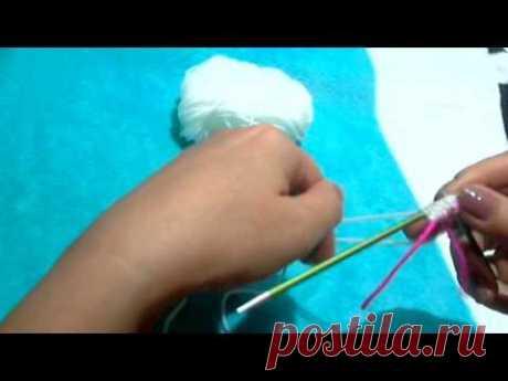 Набор петель при помощи дополнительной нити(открытый набор петель)