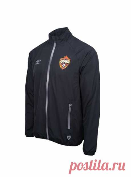 Тренировочная форма ПФК ЦСКА. Костюм парадный (куртка), черный/серебро
