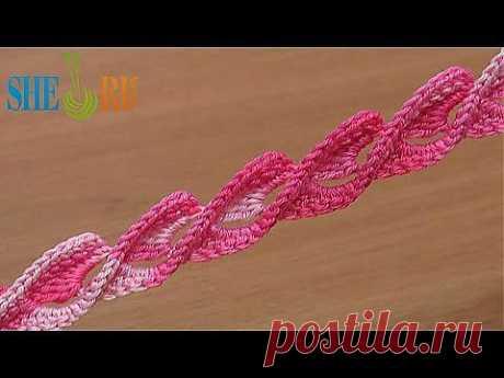 Вяжем крючком Урок 45 Великолепный объемный шнур - YouTube
