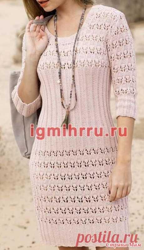 . Платье ажурное с резинкой спицами - Вязание - Страна Мам