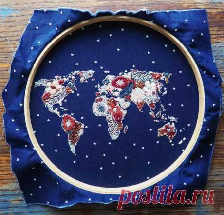 Карта мира. В горошек:) Модная одежда и дизайн интерьера своими руками