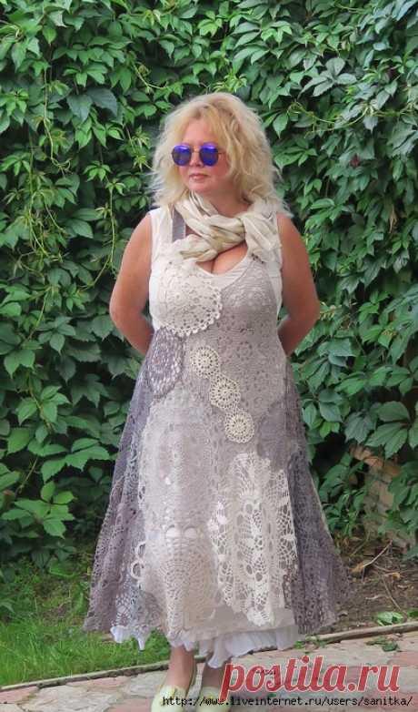 Бохо-платья из салфеток. Идеи