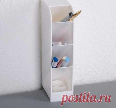 Органайзер настольный, 4 секции, 9,5 х 5 х 20,5 см — купить по цене от 300 руб.