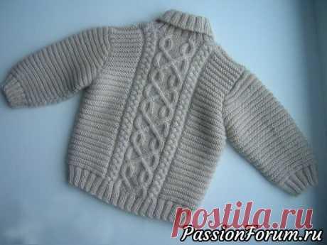 Ирландский пуловер для мальчика. Описание | Вязание спицами для детей