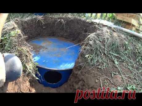 Изготовление сливной ямы под баней своими руками