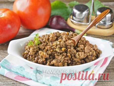 Чечевица с фаршем — рецепт с фото Вкусное, аппетитное второе блюдо для всей семьи из чечевицы и мясного фарша.