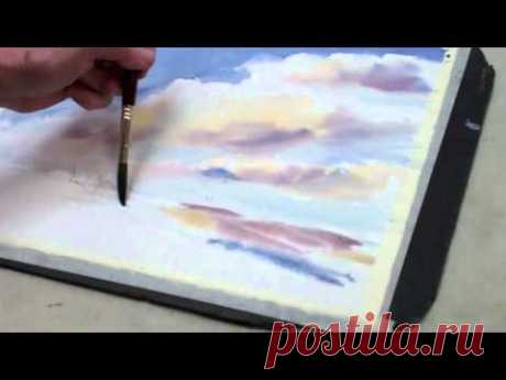 How to Paint a Watercolor Sky With Clouds — The Art League School - YouTube