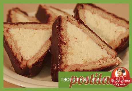 Торт из печенья и творога: старый пошаговый рецепт